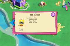 Screen showing a partial list of Canterlot Balloon Pop prize characters, mentioning Cotton Cloudy at the top.