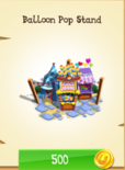 Balloon Pop Stand in the store (unlocked).