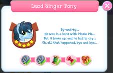 Lead Singer Pony Album Description.png