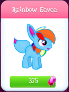 FAKE Rainbow Eevee Character