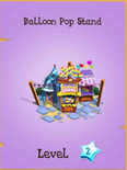 Balloon Pop Stand in the store (locked).