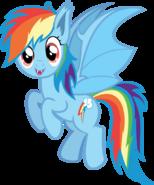 Rainbow Bite Promo Vector