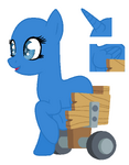Pony in a wheelchair base - my eyes's style