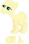 Elderly pony base 01