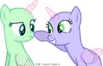 A cute nose boop base 5 2 ponies by starchase bases-d7djk06