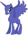Alicorn pony mare base 03
