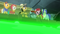 Bellows slips out of Daring Do's hooves S7E25