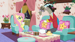 Fluttershy and Discord's -normal- tea party S7E12.png