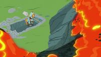 Lava trickling down toward Rockhoof S7E16