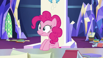 Pinkie Pie listening to Twilight Sparkle S9E4
