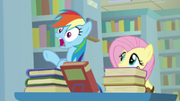 Rainbow Dash gasping with shock S9E21