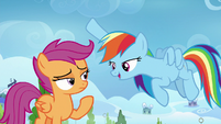 Rainbow pointing at the Wonderbolts S8E20