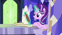 Starlight Glimmer writing a new spell S7E24
