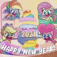 MLP Pony Life Instagram - Happy New Year 2021