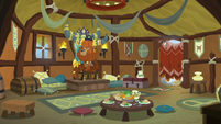 Prince Rutherford in his throne room S8E2