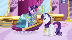 Rarity taking Twilight's measurements MLPCS1.png