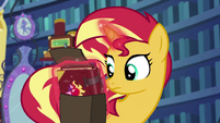Sunset Shimmer puts her new journal in her bag EGS3