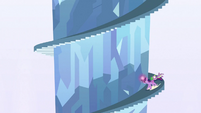 Twilight sliding up the stairs S3E02