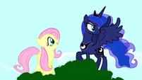 Fluttershy thanks Princess Luna S5E13