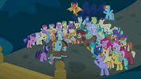 Friendship students cheer for Rockhoof S8E21