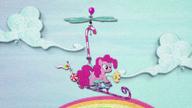 MAFH 03 Pinkie leci na dziwnym helikopterze