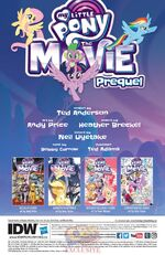 MLP The Movie Prequel issue 1 credits page
