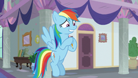 Rainbow Dash grinning nervously S8E1