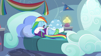 Rainbow Dash sulking on her bed S5E5