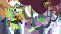 Spike sneezes green fire S5E10