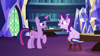 Starlight Glimmer thanking Twilight Sparkle S7E24
