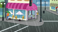 Sweet Shoppe exterior in the rain SS6