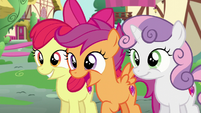 The CMC seeing somepony S6E4