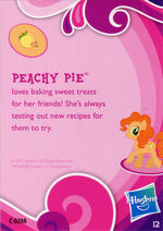 Toys 'R Us Peachy Pie collector card back