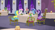 Twilight and friends nervous around Moon Dancer S5E12