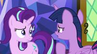 Twilight asks Starlight to take care of the school S9E1