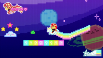 8-bit Sunset in a platforming game CYOE12a