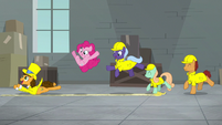 Cheese and ponies slip on banana peel S9E14