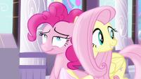 Fluttershy beside Pinkie Pie S4E01