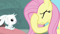 Pegasus Angel with hoof on his face S9E18