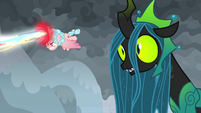 Queen Chrysalis realizes what's going on S9E25