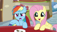Rainbow about to rebut; Fluttershy interrupts S6E11