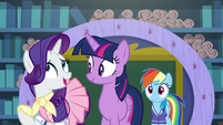 """Rarity """"Rainbow Dash's extremely time-consuming"""" S8E17"""