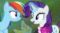 Rarity asks Rainbow to collect some cloud S8E17