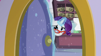 Rarity closing the sewing room door S5E14