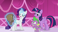 """Rarity corrects Spike on Rococo Froufrou's gender """"Him"""" S5E22"""