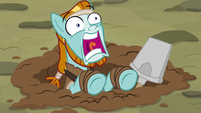 Rockhoof squealing with terror S7E16