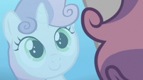 Sweetie Belle's reflection in the water S8E6