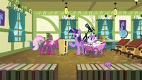 Twilight and Cheerilee in the schoolhouse classroom S7E3