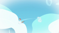 Young Rainbow bumping into clouds S6E7