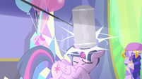 Boom mic bonks Twilight on the head S7E1